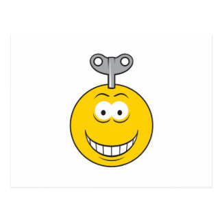 Wind-Up Smiley Face Postcard