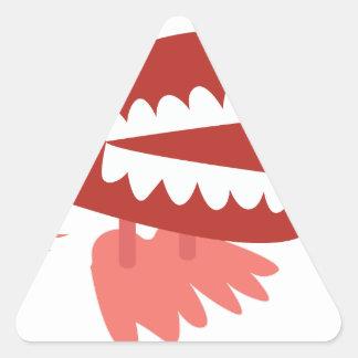 Wind Up Teeth Triangle Sticker