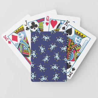 wind-up toy key playing cards