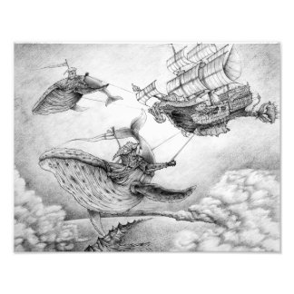 """""""Wind Whales"""" Photographic Print Cojinete"""