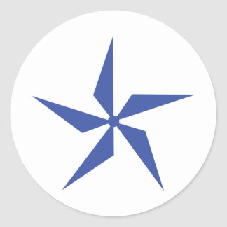 wind wheel icon classic round sticker