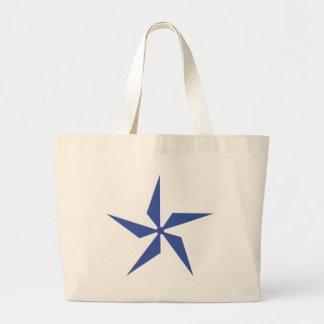wind wheel icon large tote bag
