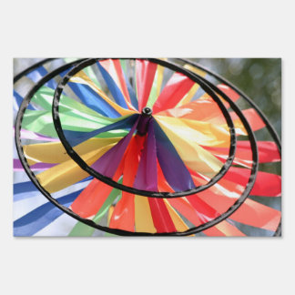 Wind Wheel Lawn Sign