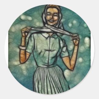 Wind Wisp Round Sticker