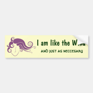 Wind Woman Design Bumper Sticker