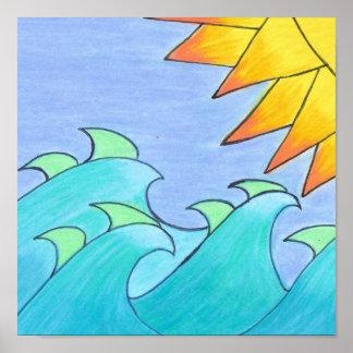 Windblown Waves Poster