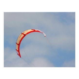 Windboard red sail against blue sky custom flyer