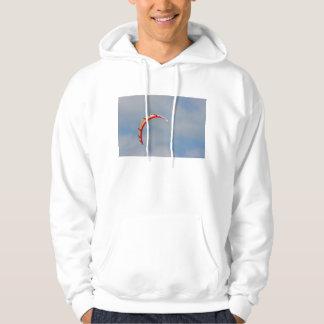 Windboard red sail against blue sky sweatshirts