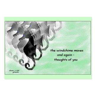 Windchime Haiku Art ACEO Trading Card #2 Business Card Template