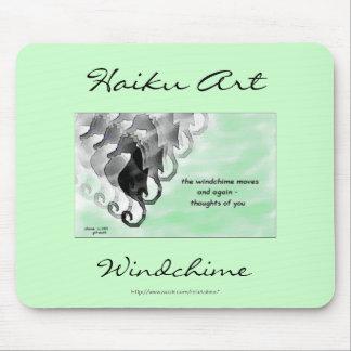 Windchime Haiku Art Mousepad