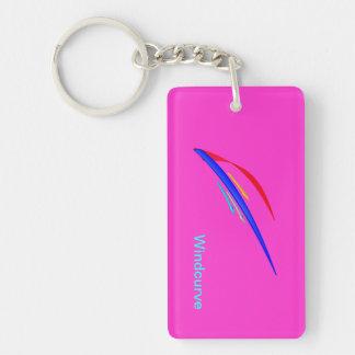Windcurve Double-Sided Rectangular Acrylic Keychain