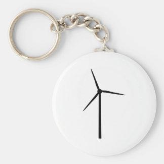 windenergy power environment electricity basic round button keychain