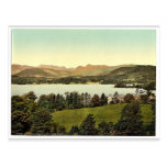Windermere and Langdale Pikes, Lake District, Engl Post Card
