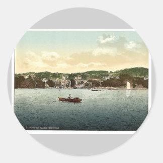 Windermere, Bowness, de la encina del abedul, lago Pegatinas Redondas
