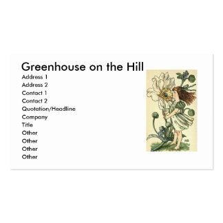 Windflower, Greenhouse on the Hill Business Card Templates