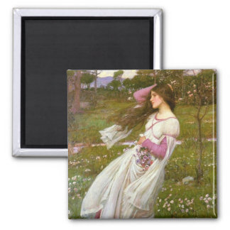 Windflowers 2 Inch Square Magnet