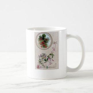 Windflowers and Vignette Vintage Birthday Mugs