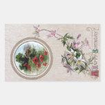 Windflowers and Vignette Vintage Birthday Sticker