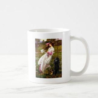 Windflowers-Black Standard Poodle Coffee Mug