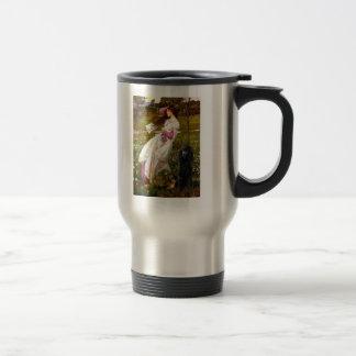 Windflowers-Black Standard Poodle Travel Mug