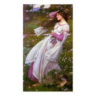 Windflowers by John Waterhouse Double-Sided Standard Business Cards (Pack Of 100)