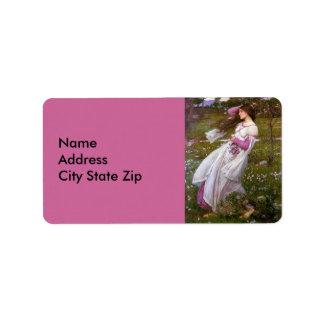 Windflowers by John Waterhouse Label