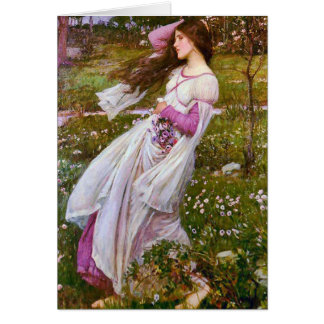 Windflowers by John William Waterhouse Greeting Card