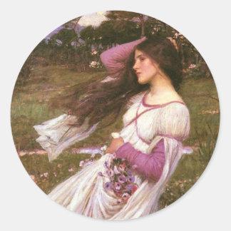Windflowers Classic Round Sticker