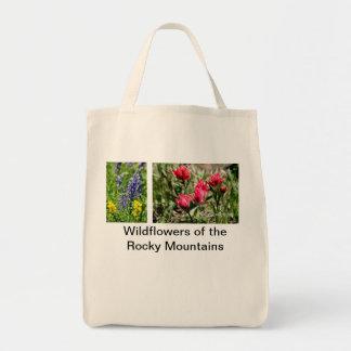 Windflowers de las montañas rocosas bolsas lienzo
