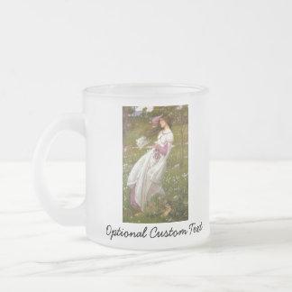 Windflowers Frosted Glass Coffee Mug