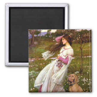 Windflowers - Vizsla 2 2 Inch Square Magnet
