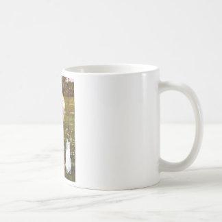 Windflowers - White cat Mug