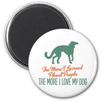 Windhound de seda imán redondo 5 cm