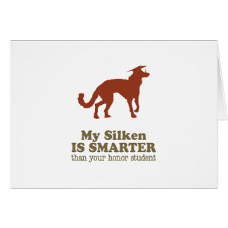 Windhound de seda tarjeta de felicitación