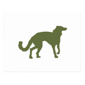 Windhound de seda tarjetas postales