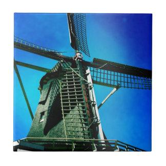 Windill en Amsterdam Azulejo Cuadrado Pequeño