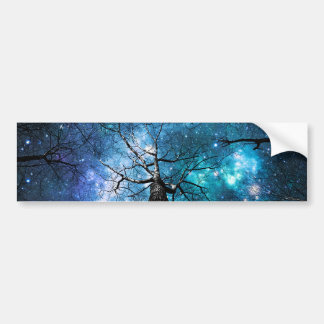 Winding Branches Falling Stars Bumper Sticker