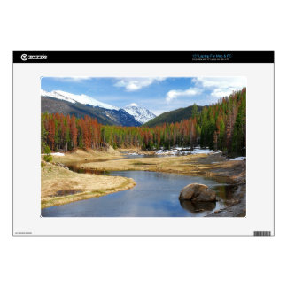 "Winding Colorado River With Mountains and Pines 15"" Laptop Skins"