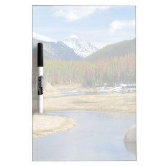 Winding Colorado River With Mountains and Pines Dry-Erase Boards