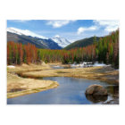 Winding Colorado River With Mountains and Pines Postcard