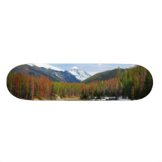 Winding Colorado River With Mountains and Pines Skate Deck