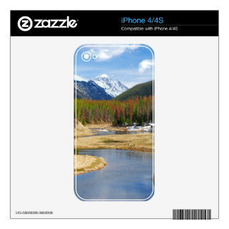 Winding Colorado River With Mountains and Pines iPhone 4 Skins
