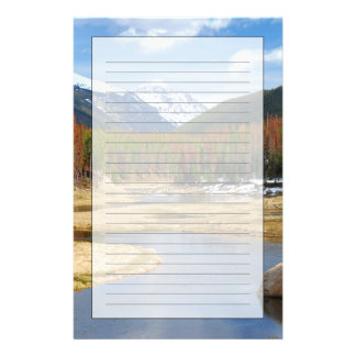 Winding Colorado River With Mountains and Pines Stationery