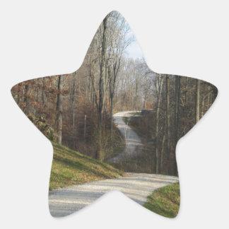 Winding Country Lane Star Sticker