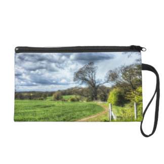 Winding Country Path HDR Wristlet Purses