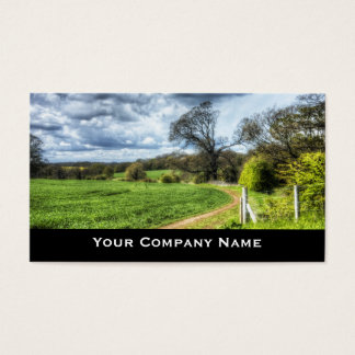 Winding Country Path HDR Landscape Business Cards