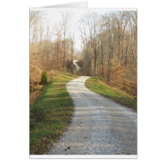 Winding Country Road Card
