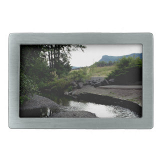 Winding Creek I Rectangular Belt Buckle
