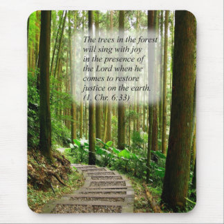 Winding Footpath in a Quiet Forest Mouse Pad