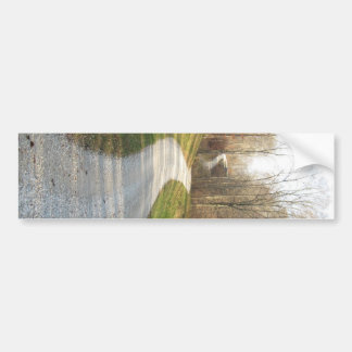 Winding Midwestern Country Road Bumper Sticker